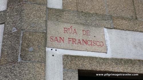 Rúa de San Franscisco Sign, Sanitago de Compostela, Spain