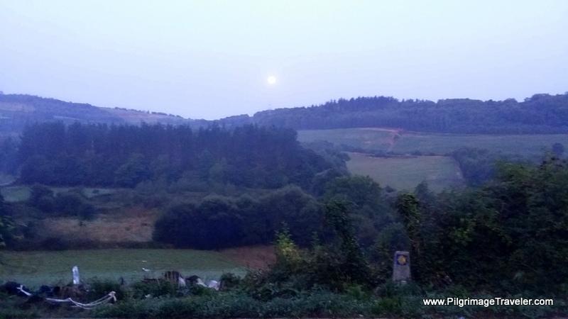 Misty Morning Sunrise Over O Cadavo, Galicia, Spain