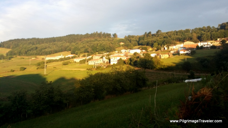 Borres in the Early Morning Light, Camino de Santiago, Asturias, Spain on day five Camino Primitivo