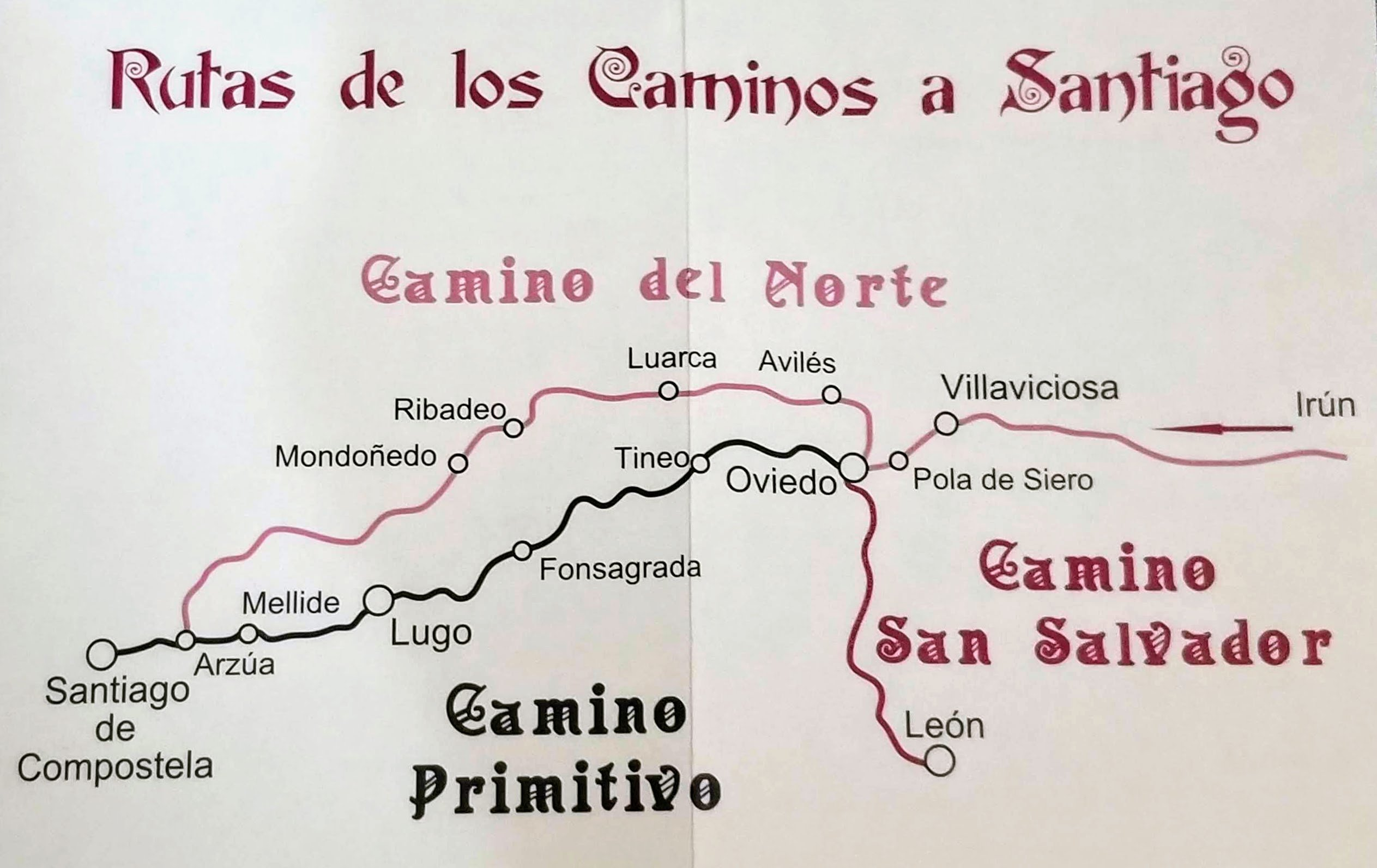 Caminos del Norte from the San Salvador Credential