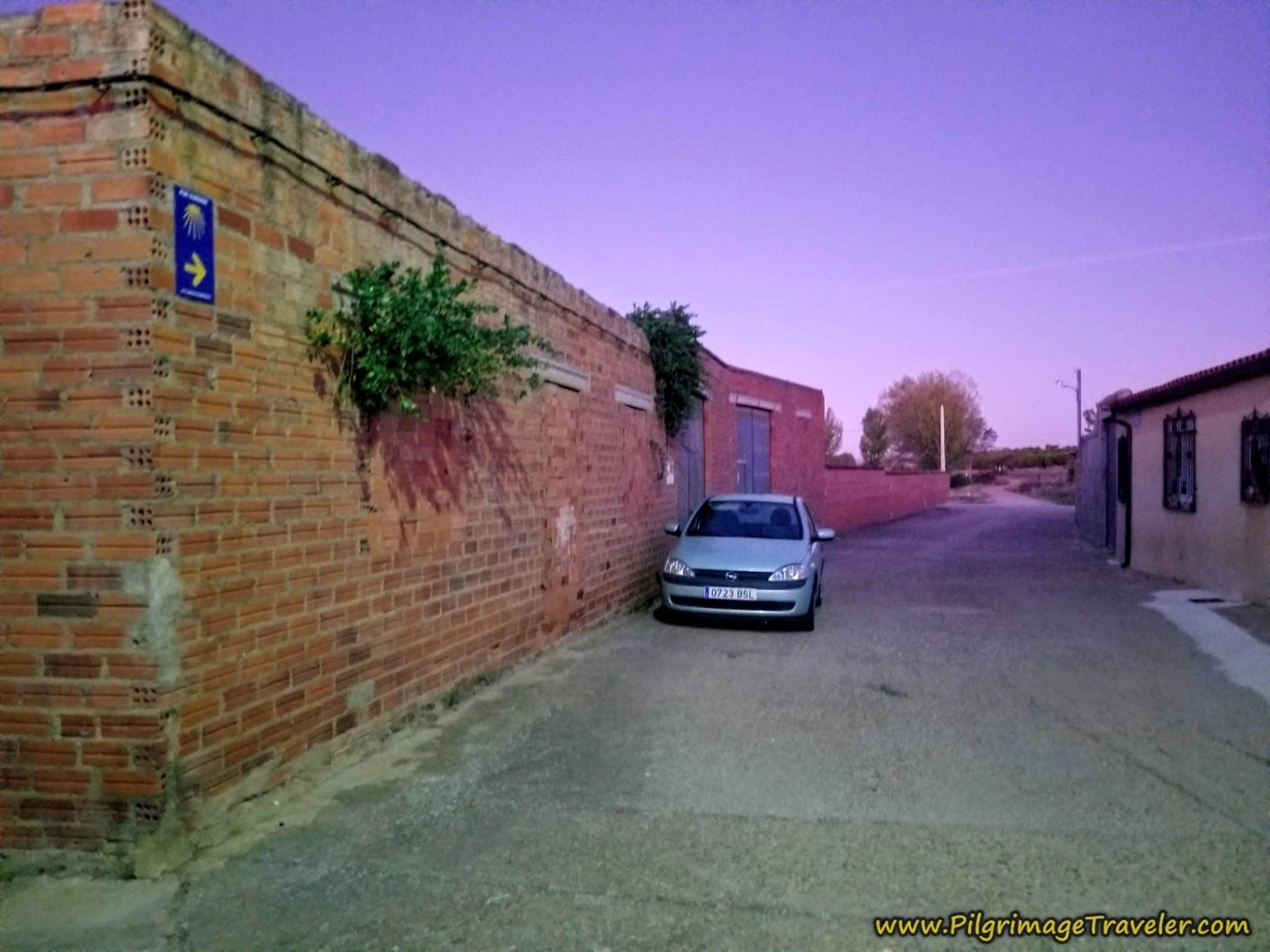 Leaving Granja de Moreruela at Dawn