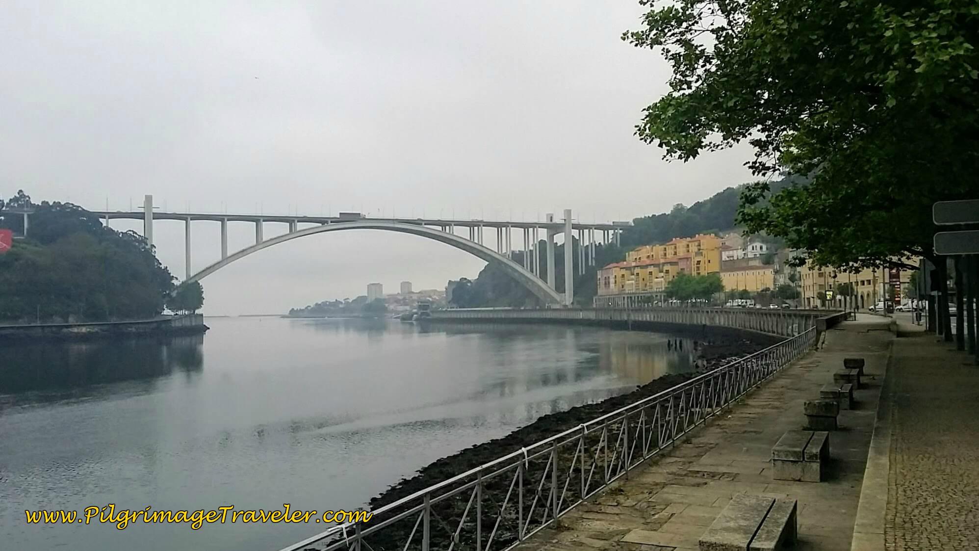 Ponte da Arrábida in Porto on the Portuguese Way along the Sendal Litoral