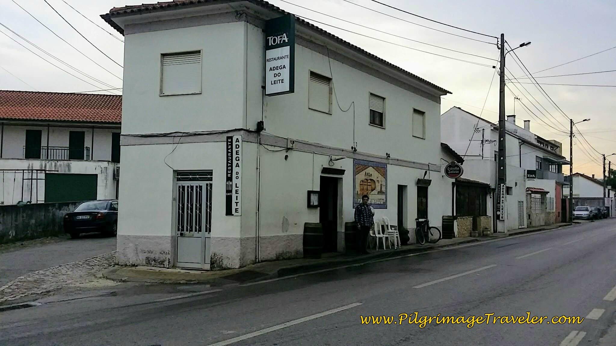 Café Adega de Leite in Adémia, Portugal