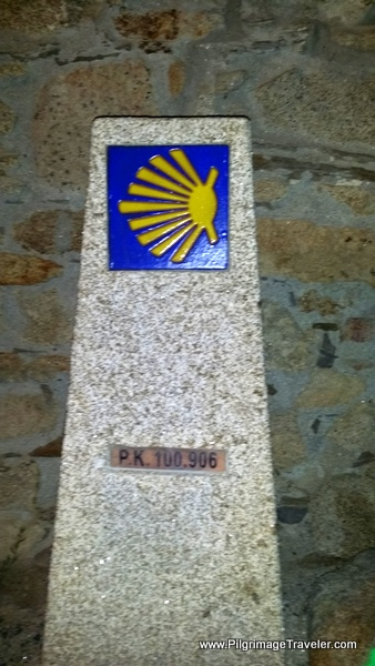 100 Kilometer Waymark on the Camino Primitivo