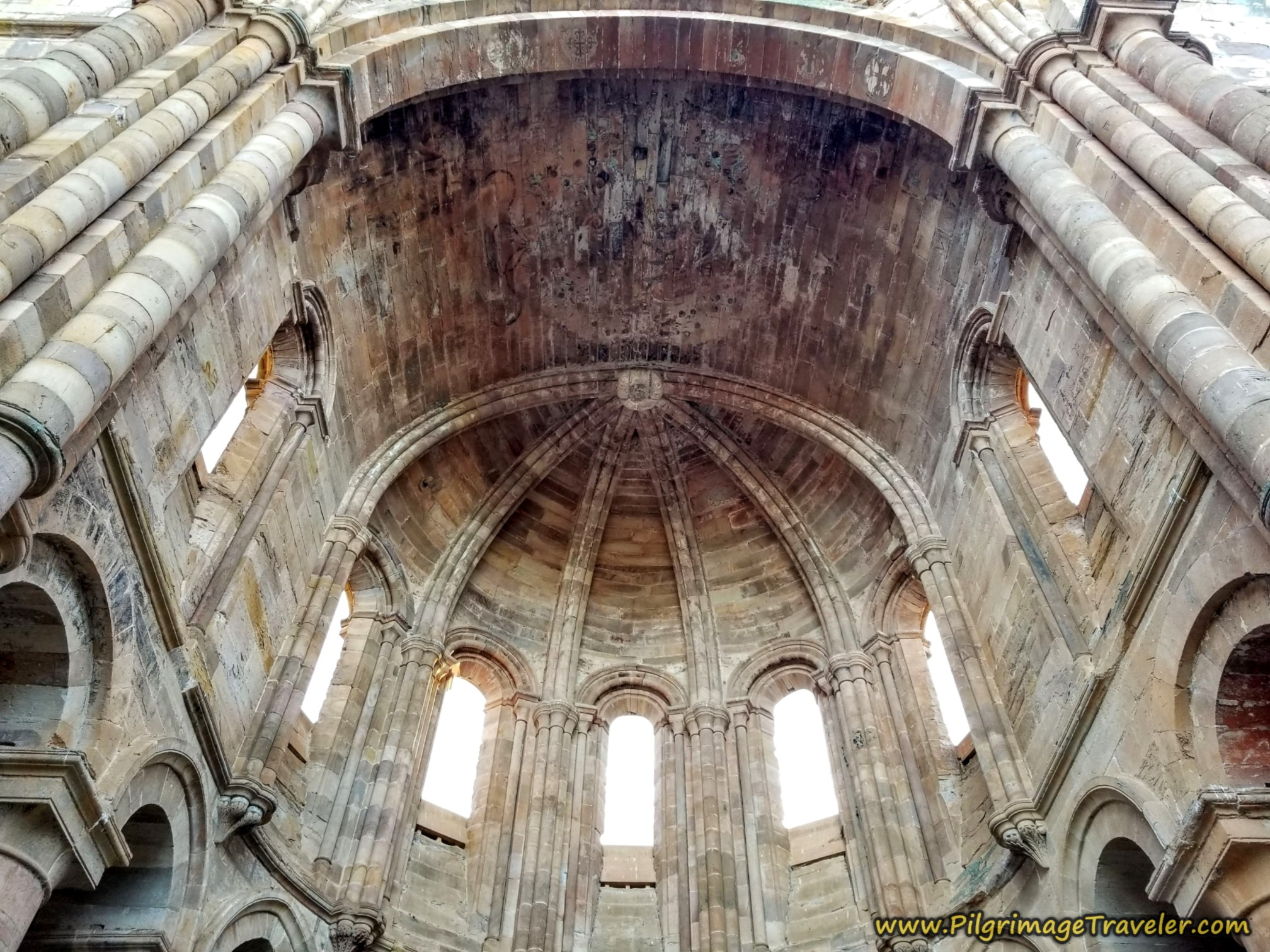 Upper Storey of the Cathedral Apse of the Monasterio Moreruela on the Camino Sanabrés