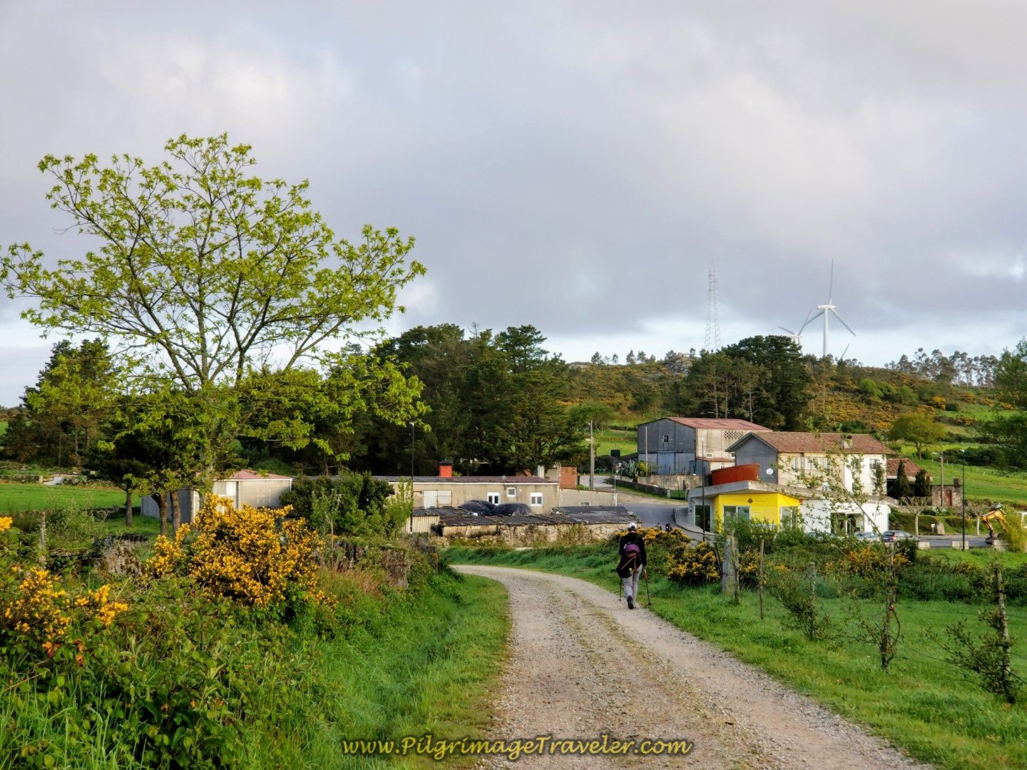 Town of Hospital Ahead on day three of the Camino Finisterre