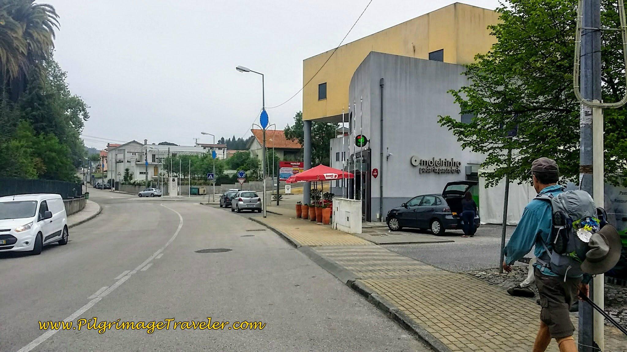 Telltale Café Umbrellas on the Rua Mesura in Cernache