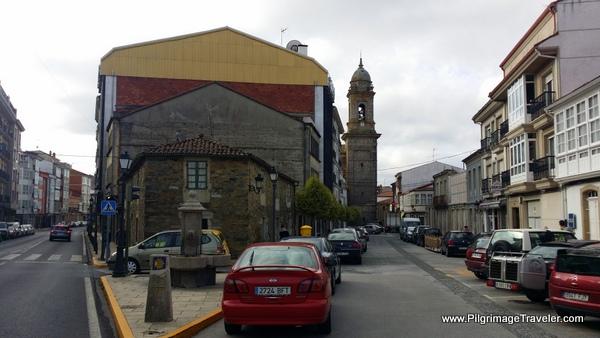Melide Intersection Toward the Praza do Convento on the Camino Primitivo
