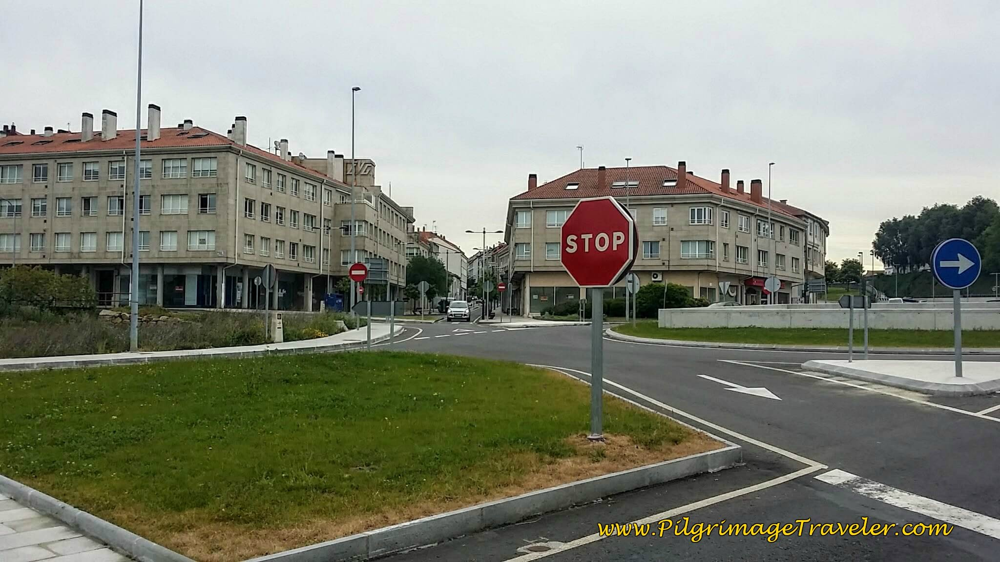 Large Roundabout in Conxo on day twenty-five of the Portuguese Way