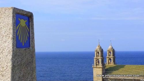 Zero Kilometer Marker and the Nosa Señora da Barca Church