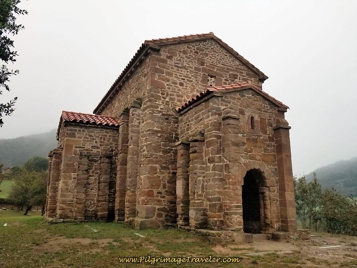 Front View of the Santa Cristina de Lena Hermitage