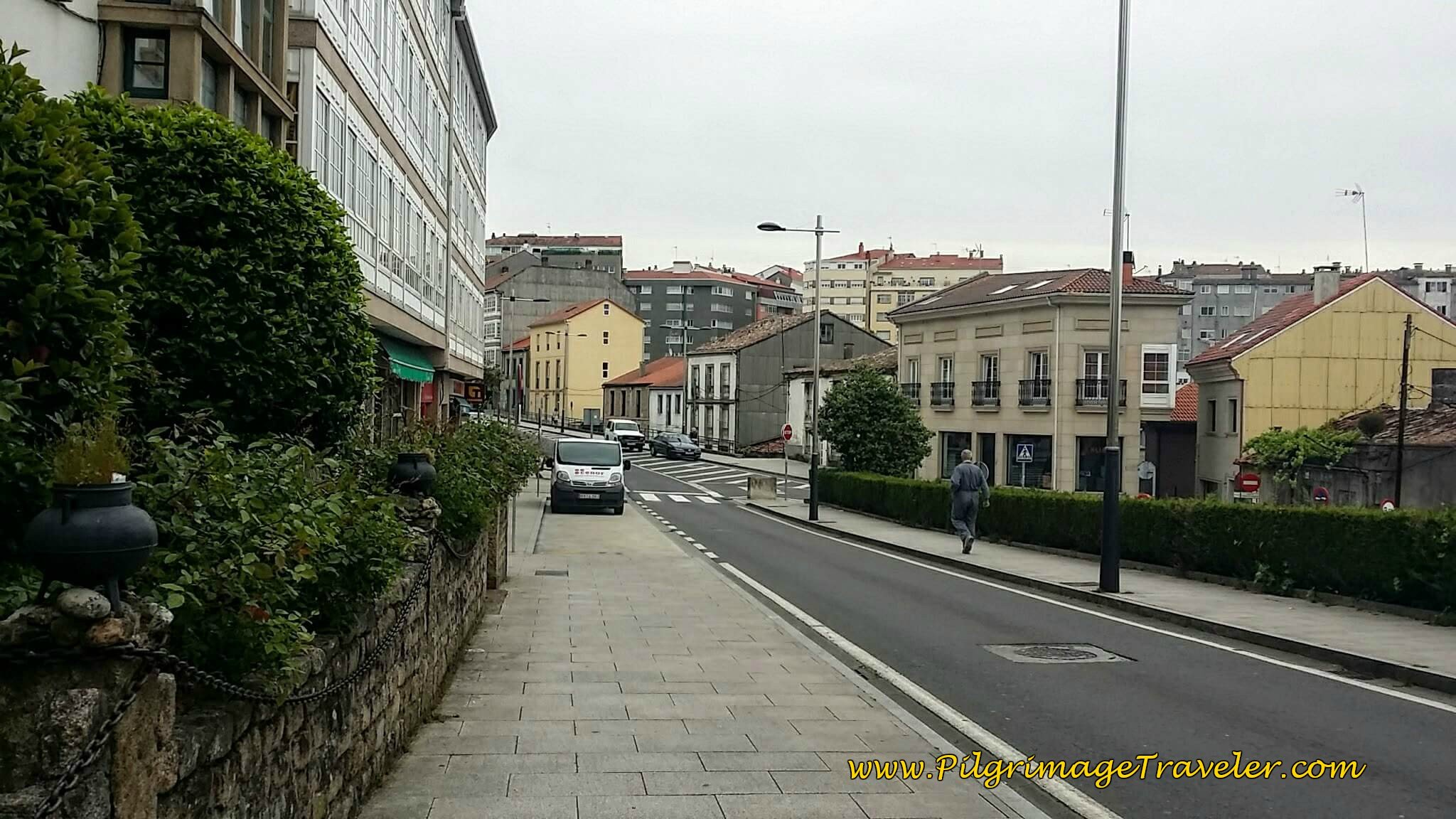 Join the Avenida de Vilagarcía in Santiago de Compostela on day twenty-five of the Portuguese Way