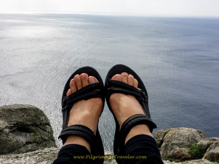 My Feet Dangling over the End of the World at Cabo Finisterre