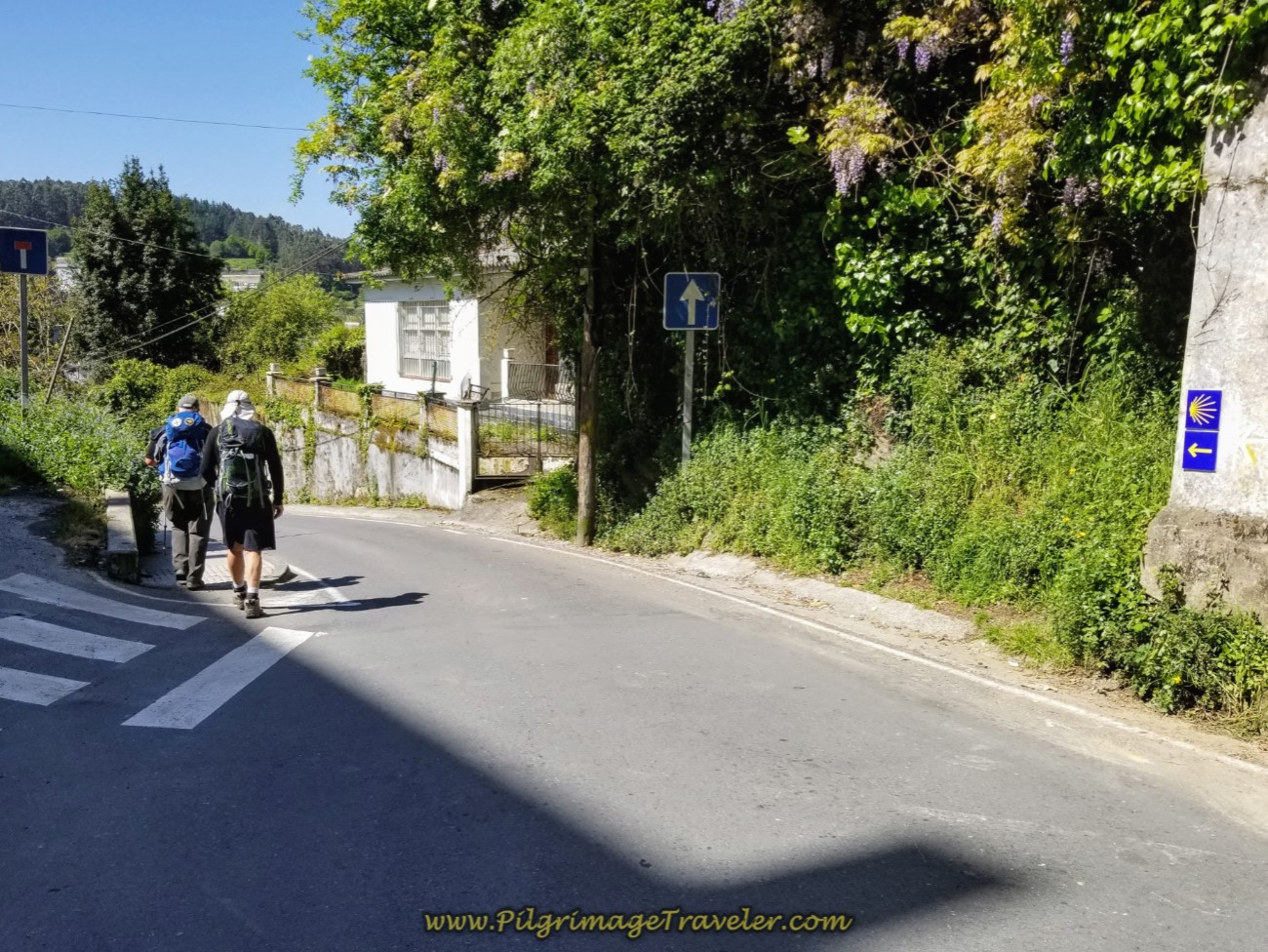 Leaving Betanzos on the Rúa Rollo on day five of the Camino Inglés