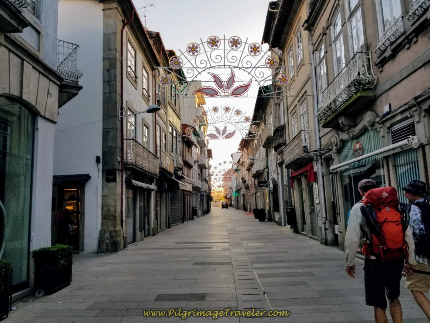 Through the Sleeping Streets of Barcelos on day seventeen on the Central Route of the Camino Portugués