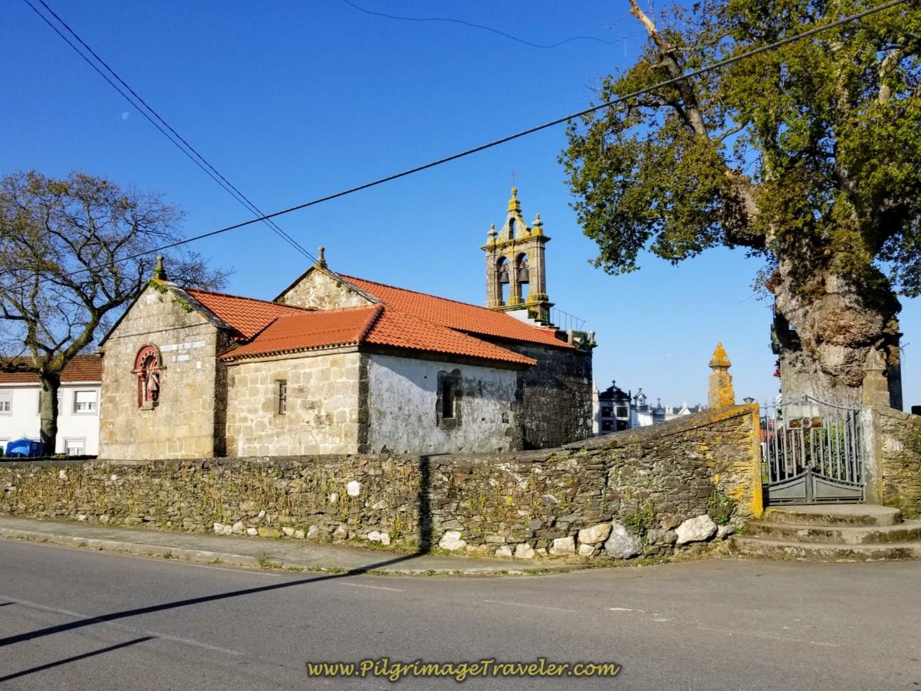 Igrexa de San Paio de Buscas in A Rúa on day seven of the Camino Inglés