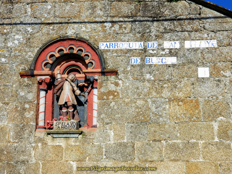 Igrexa de San Paio de Buscas, San Pelayo 1737 Inscription on day seven of the Camino Inglés