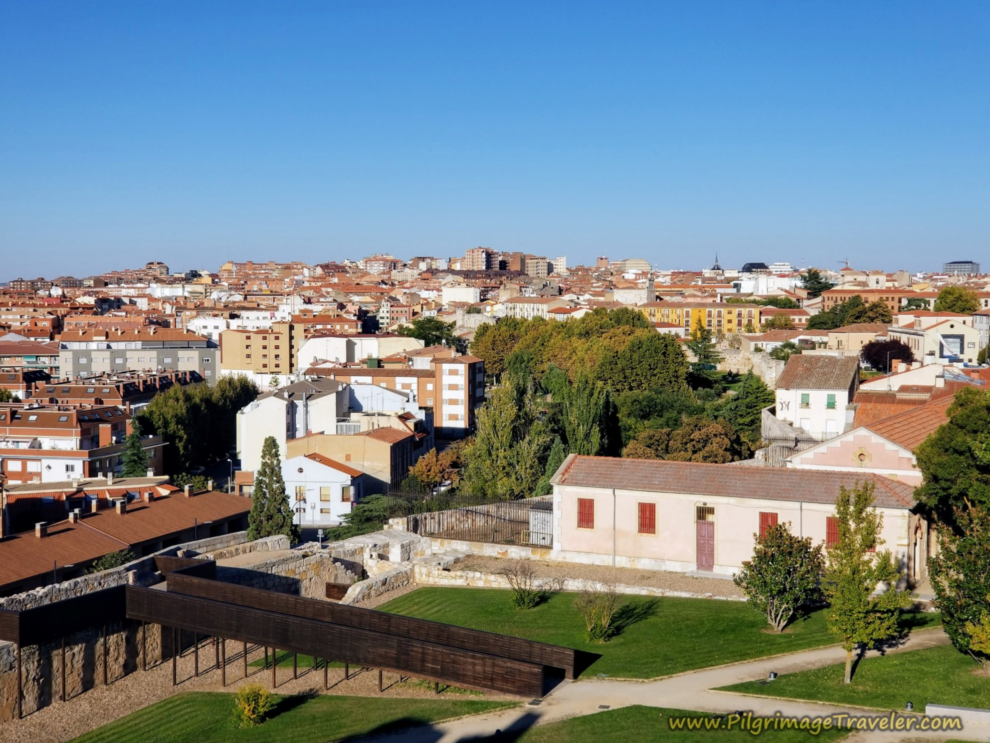 Bird's Eye View of Zamora from the Castle