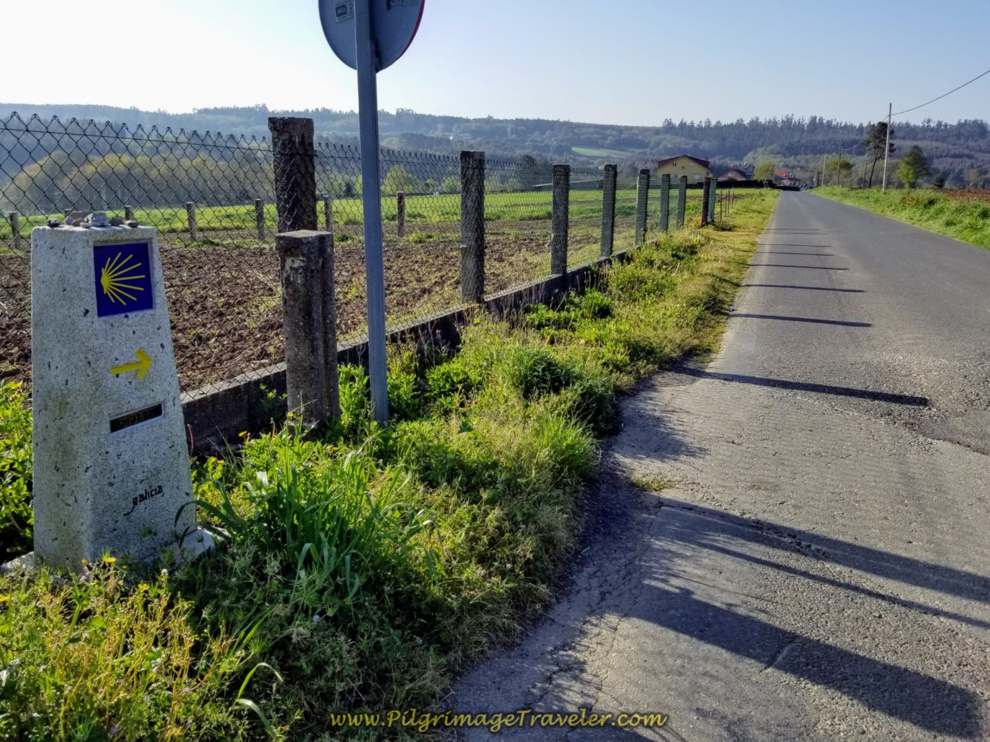 Leaving A Rúa on Day Seven of the Camino Inglés