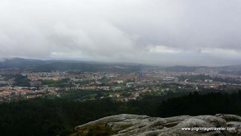 View of Santiago de Composela from the top of Monte Pedroso, Galicia, Spain.
