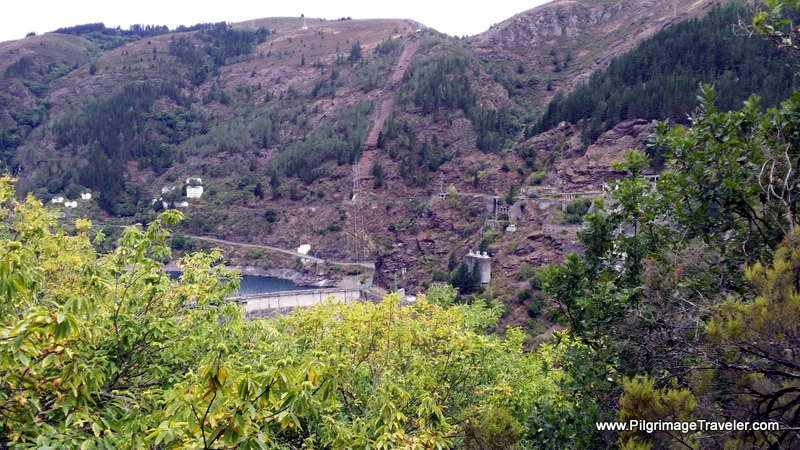 Almost at the Dam, on the Camino Primitivo
