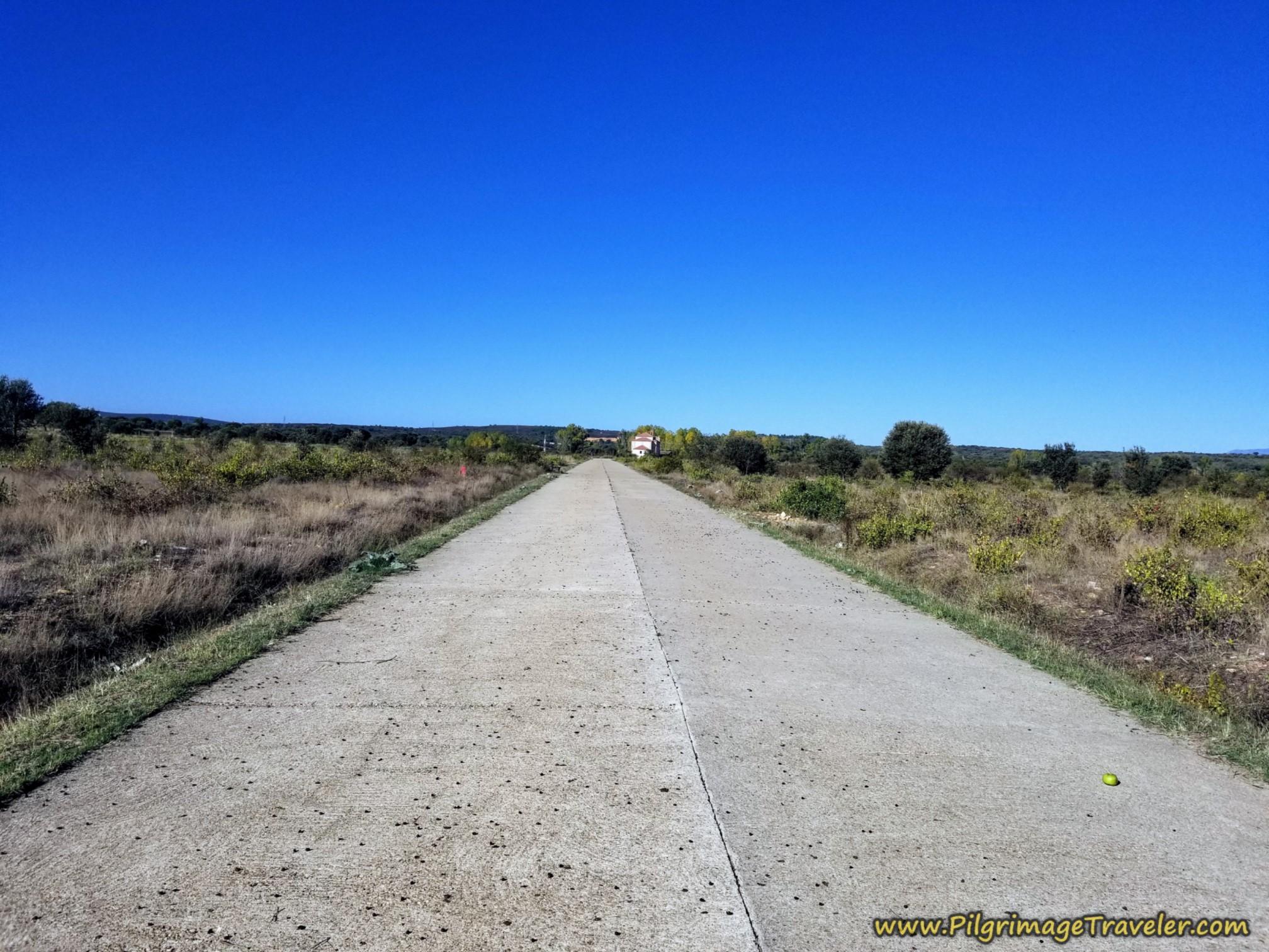 Long Concrete Road After Olleros de Tera