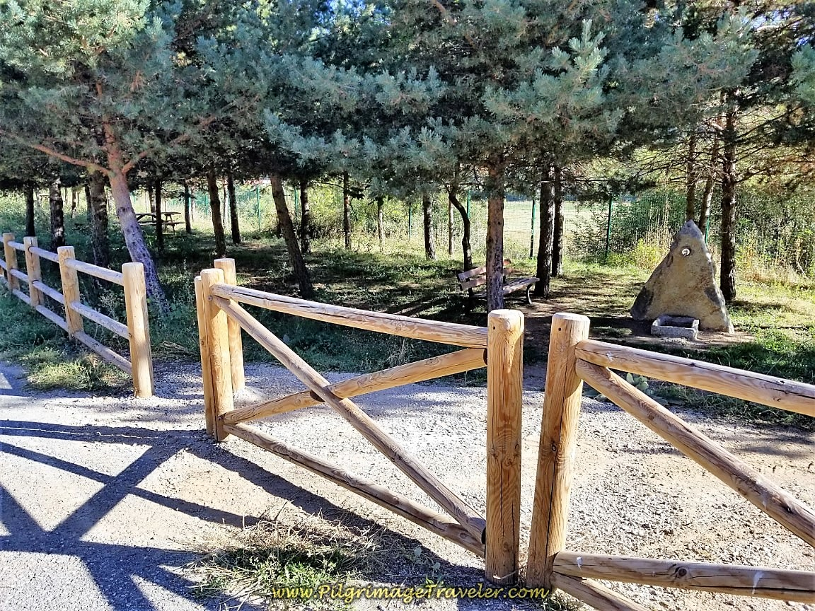 Pass By Shady Picnic Area at Top on day two of the Camino de San Salvador