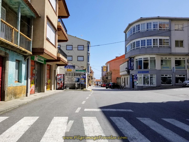 Along the Calle La Coruña in Finisterre