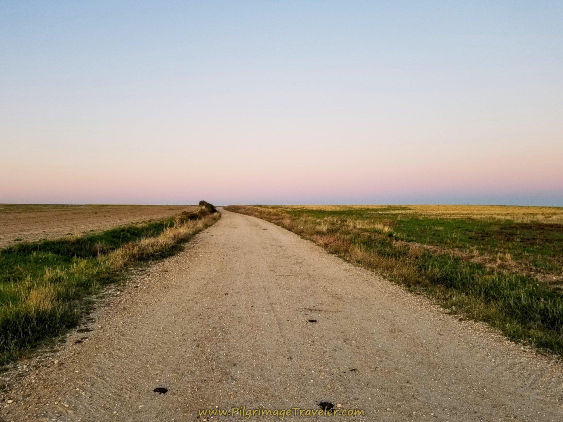 Sunrise Over the Camino de Macotera