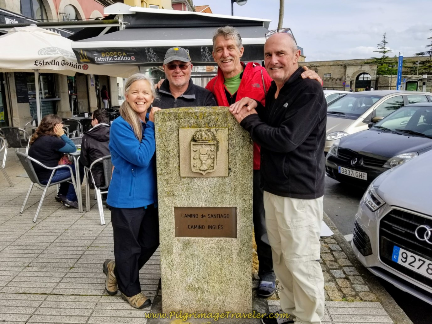The Official Start of the Camino Inglés on day one of the Camino Inglés