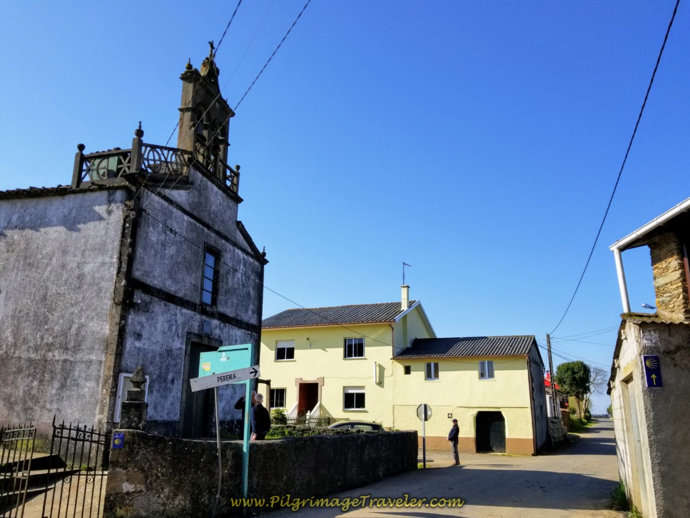 Walk by Village Church in A Calle on day seven of the English Way