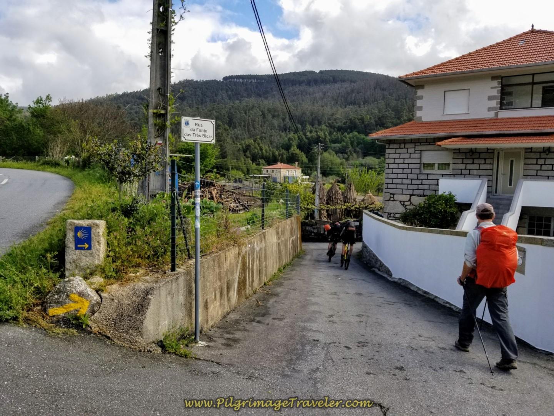 Rua da Fonte das Trés Bicas on day eighteen on the Central Route of the Portuguese Camino