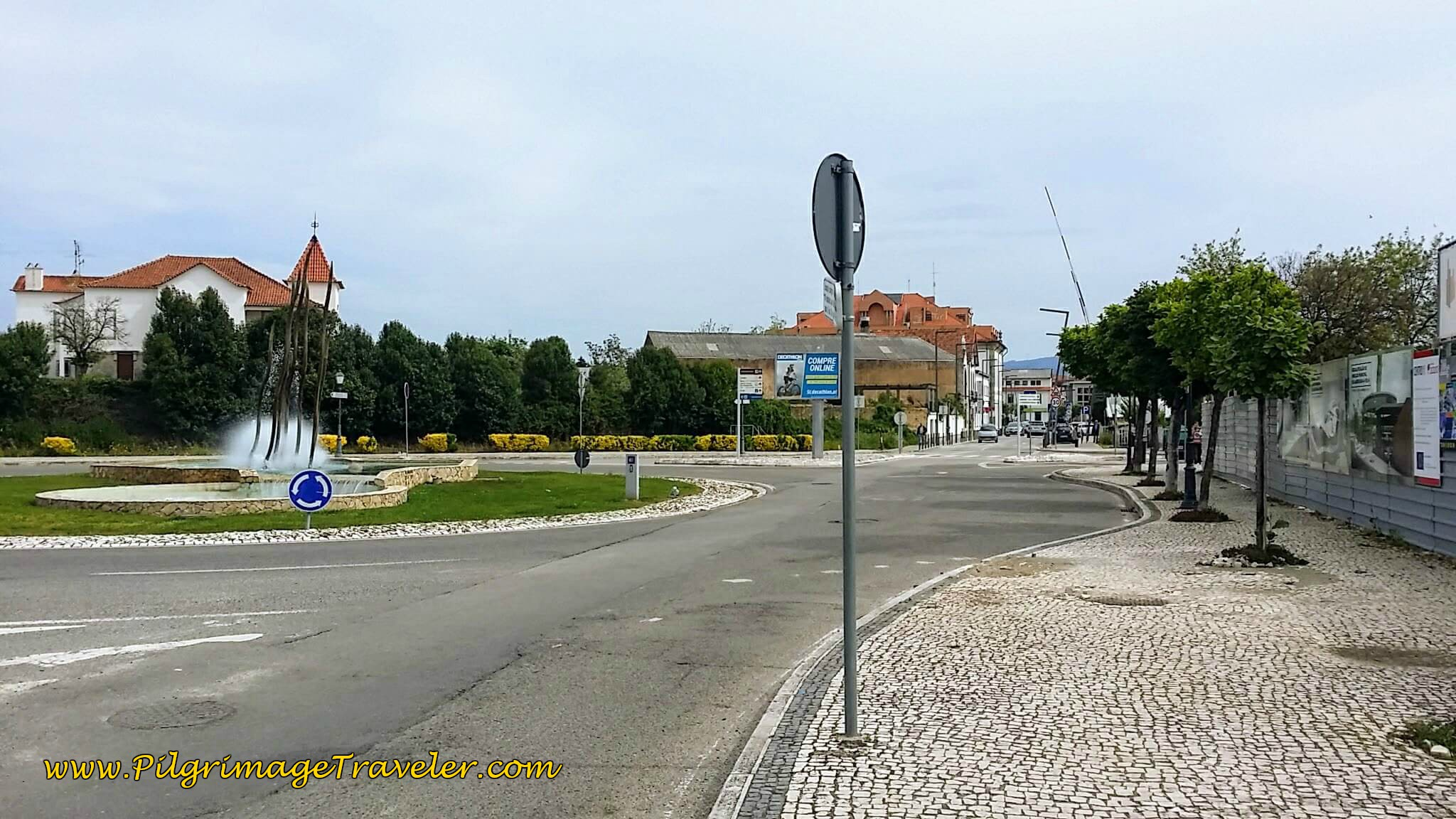 Entering Albergaria-a-Velha on day twelve of the Portuguese Way