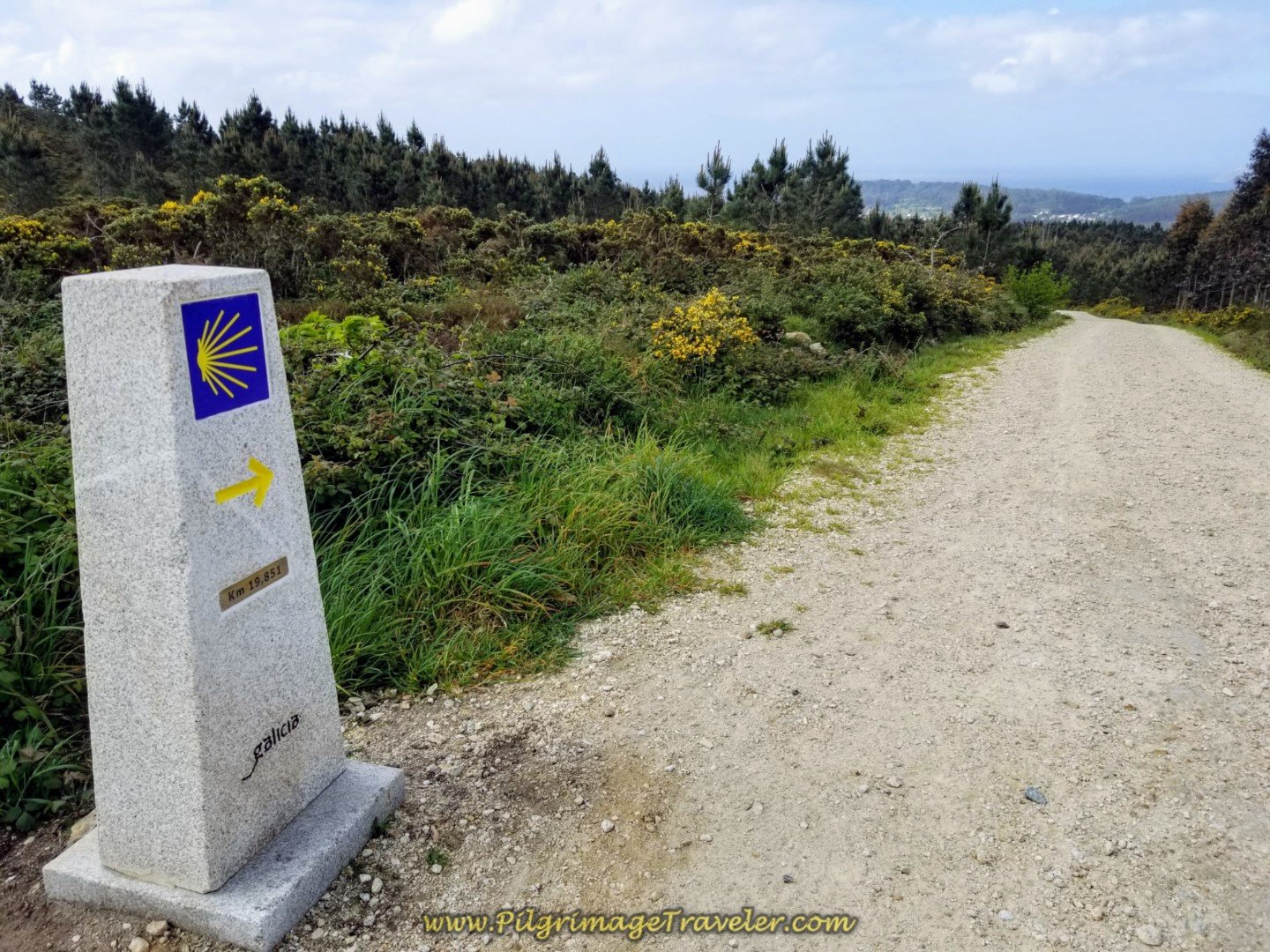 First Glimpse of the Sea on day three of the Camino Finisterre