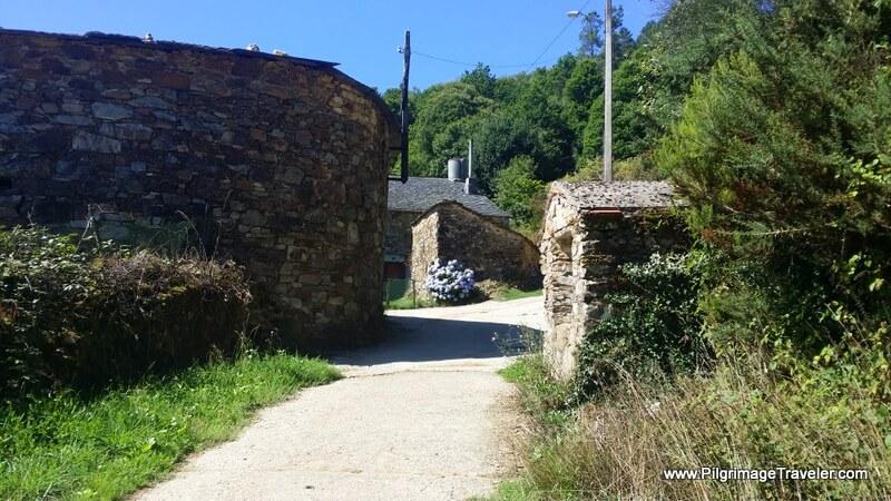 Onward Through the Town of A Lastra, Galicia, Spain