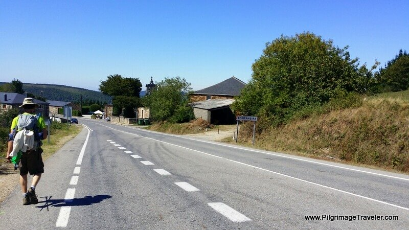 Walking into Fontaneira on Day Eight of the Camino Primitivo