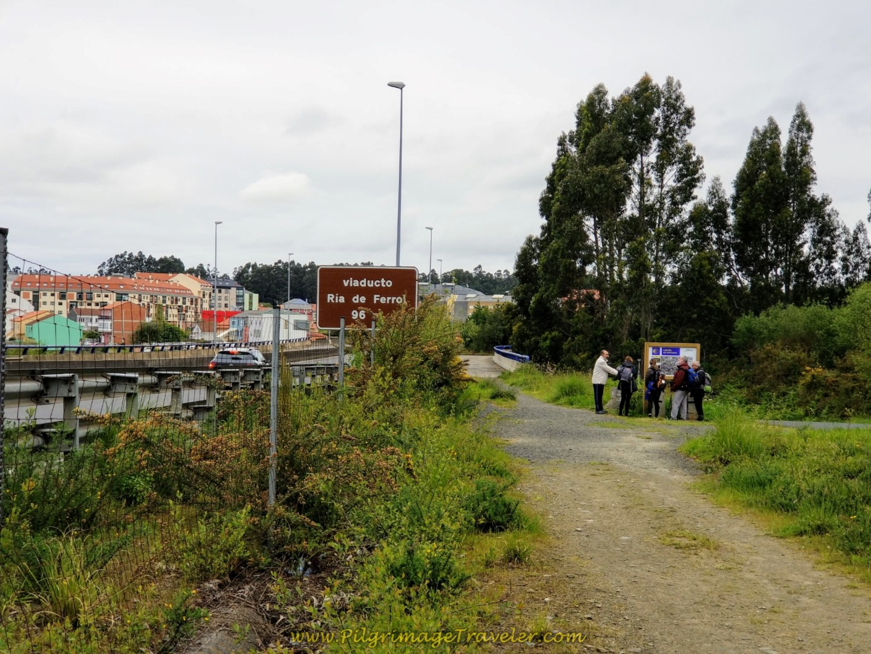 Viaducto Ría de Ferrol on day one of the English Way