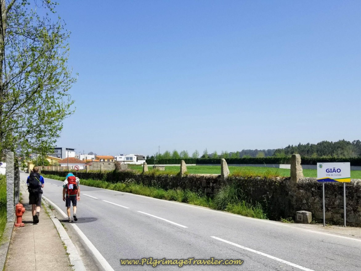 Entering the Village of Gião on day fifteen on the Central Route of the Portuguese Way
