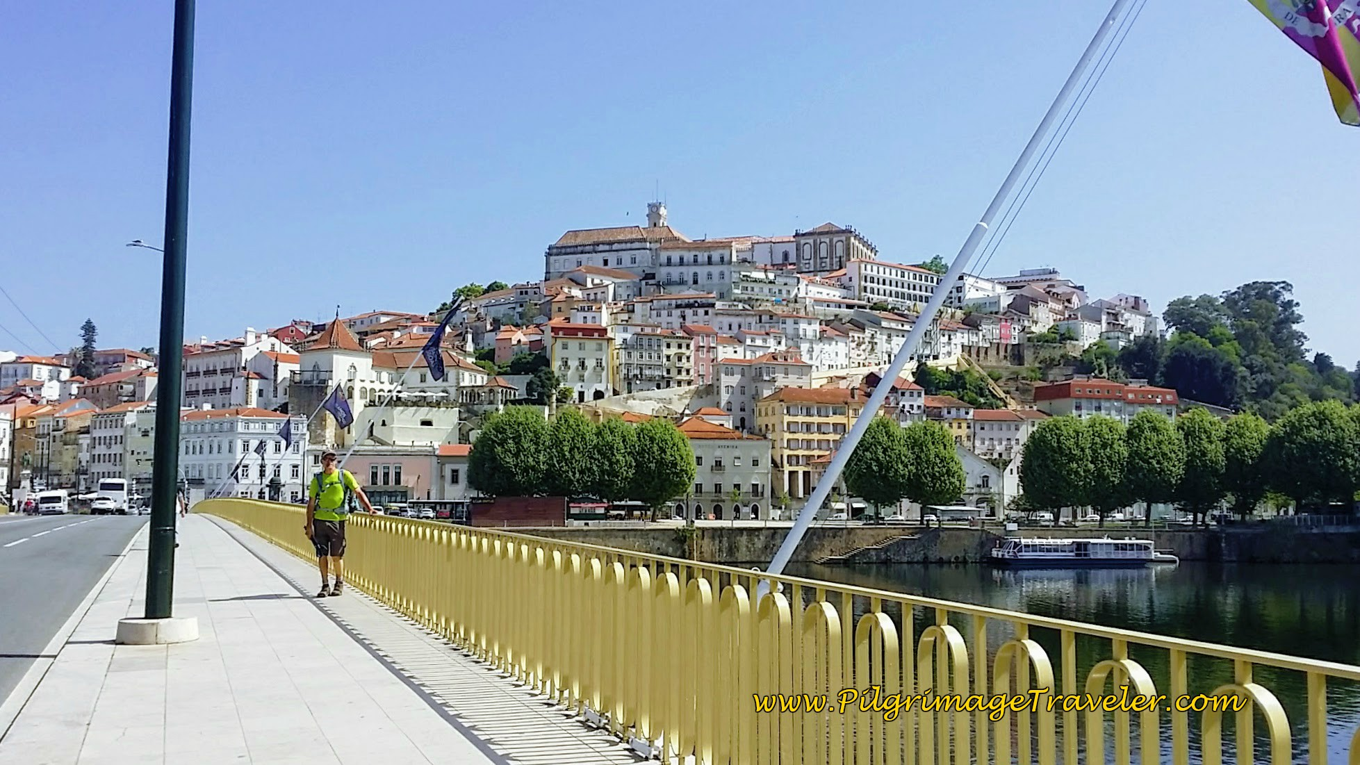 Ponte de Santa Clara Bridge in Coimbra, Portugal