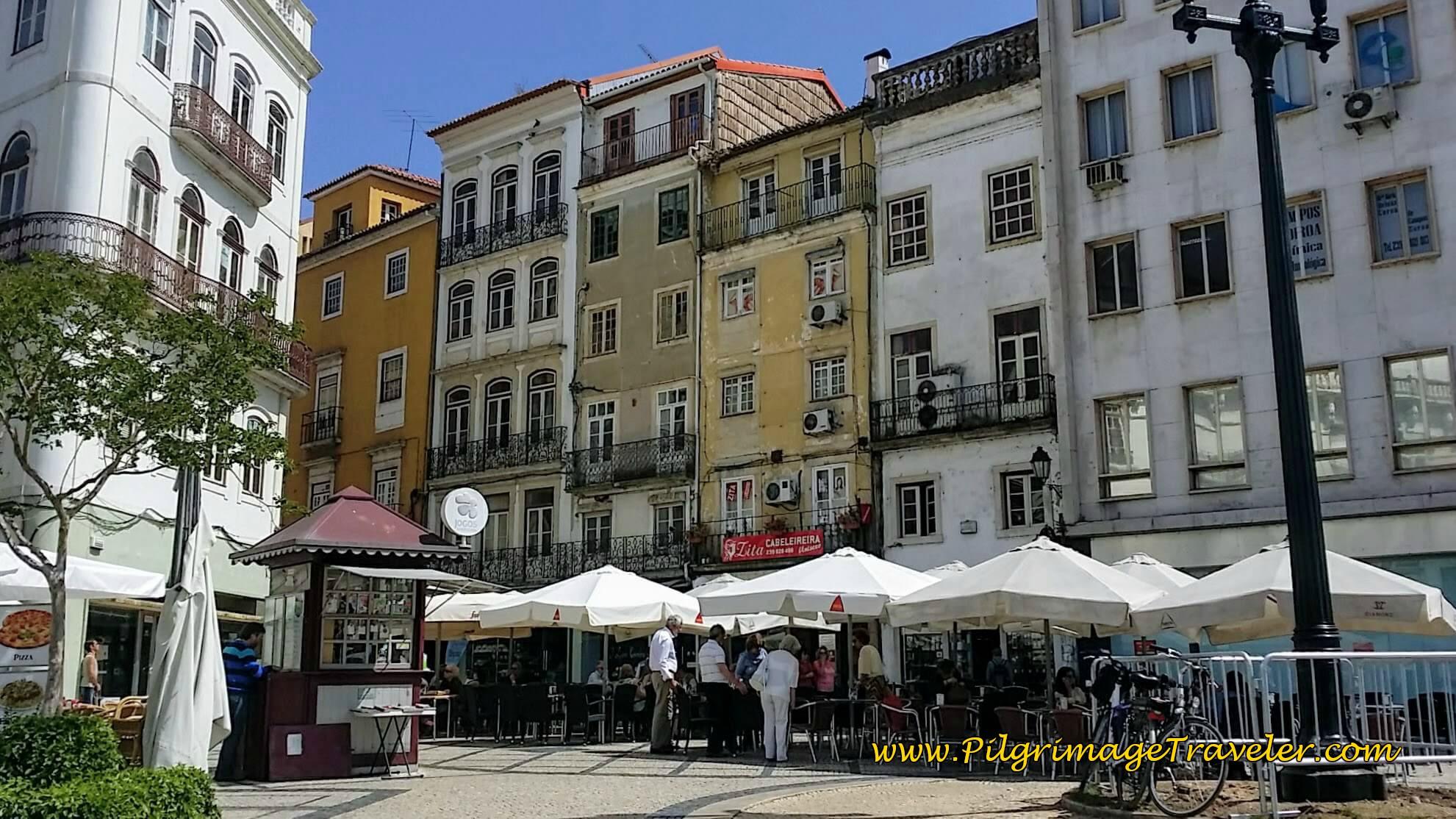 Largo da Portagem Street Cafés, Coimbra, Portugal