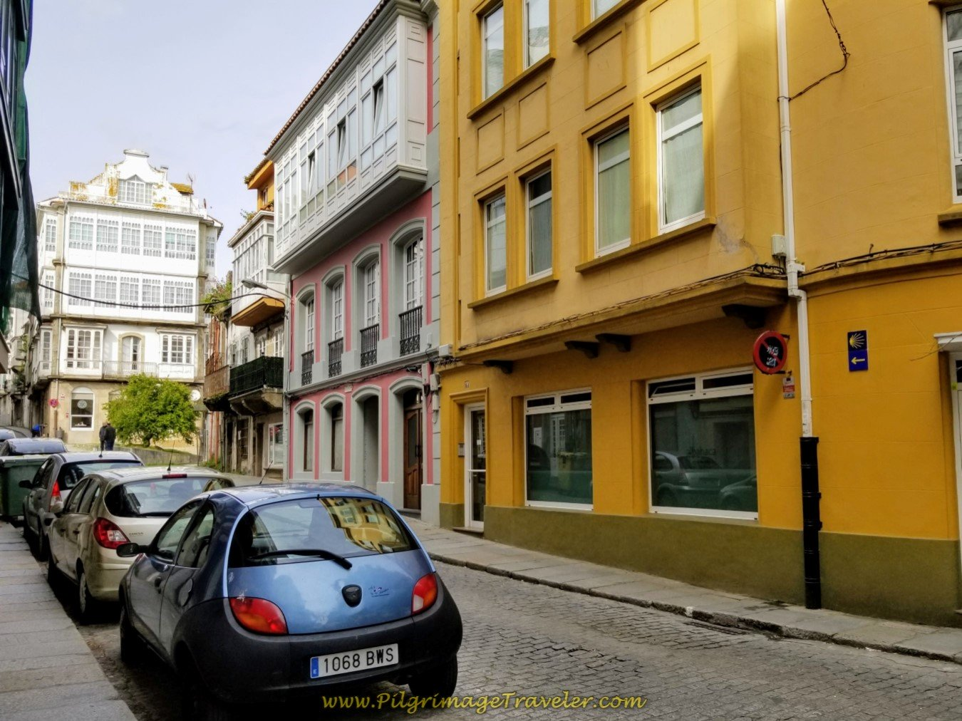 Left Here Onto the Calle San Francisco Ferrol, on day one of the Camino Inglés