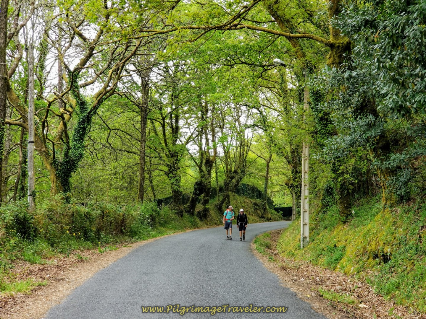 Along the Aldea Ponte Maceira on day one of the Camino Fisterra