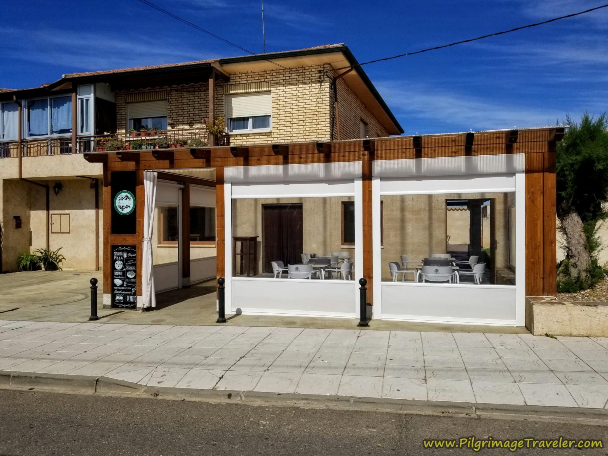 Café El Pescador on the Vía de la Plata from Zamora to Montamarta