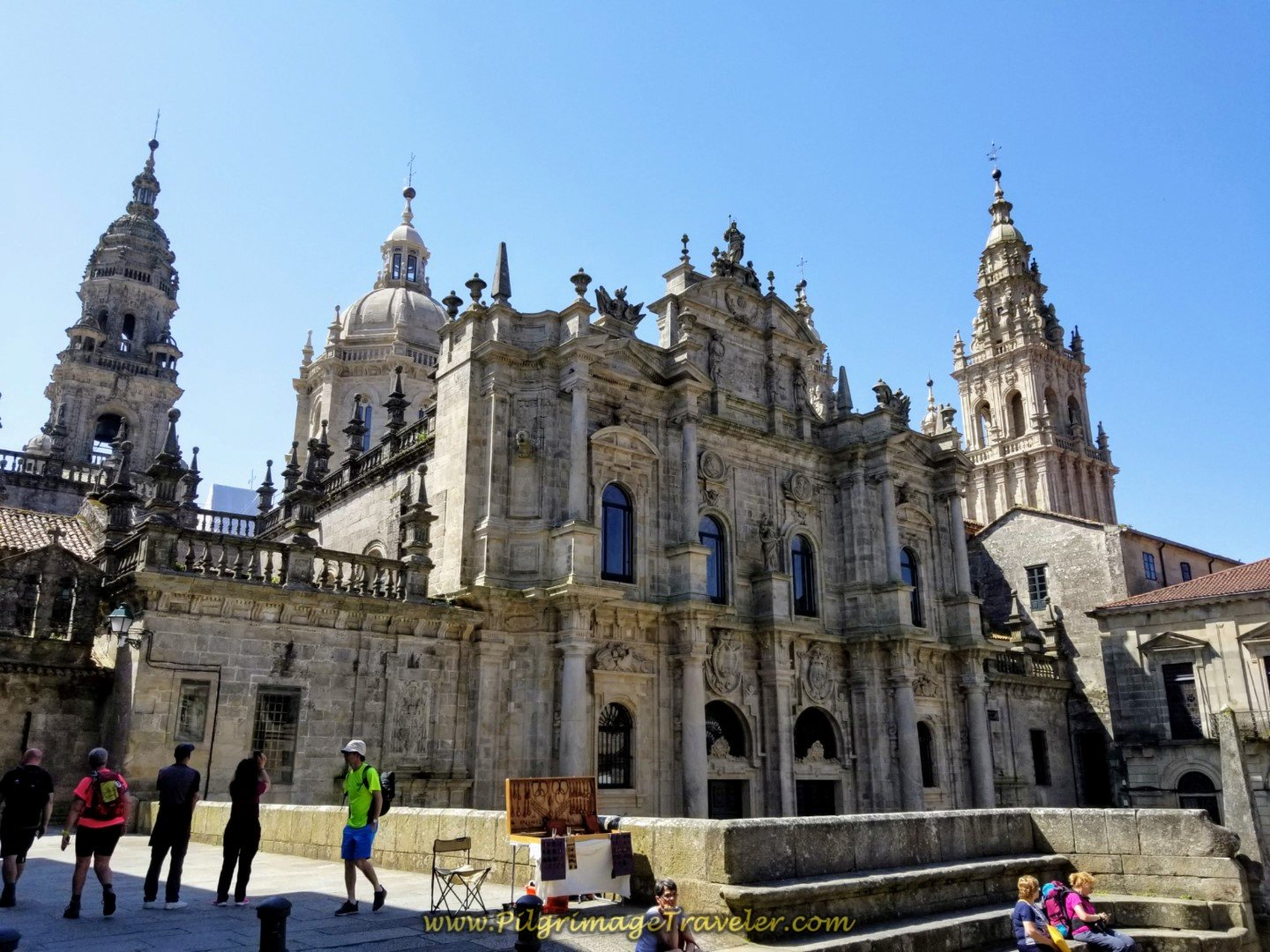 The Northern Façade of the Cathedral of Santiago de Compostela on day eight of the English Way