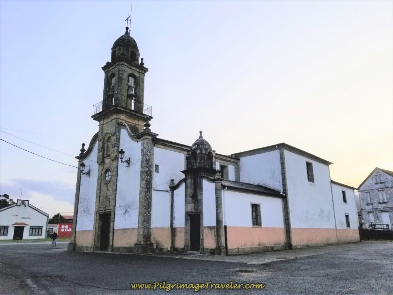Iglesia de Santa María de Neda on day two of the Camino Inglés