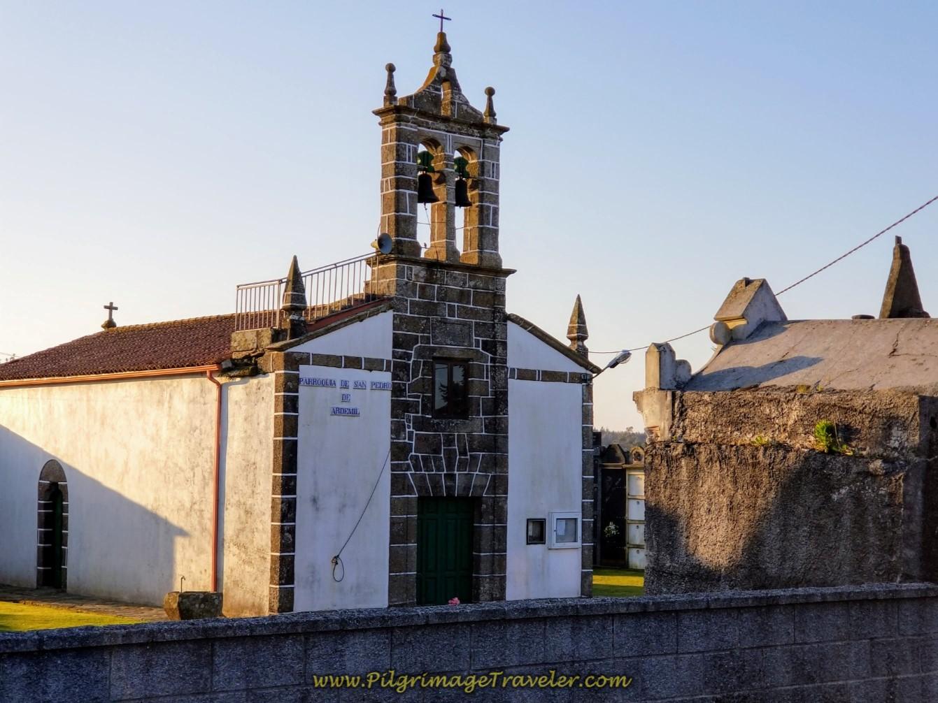 Parroquial de San Pedro de Ardemil on day seven of the Camino Inglés