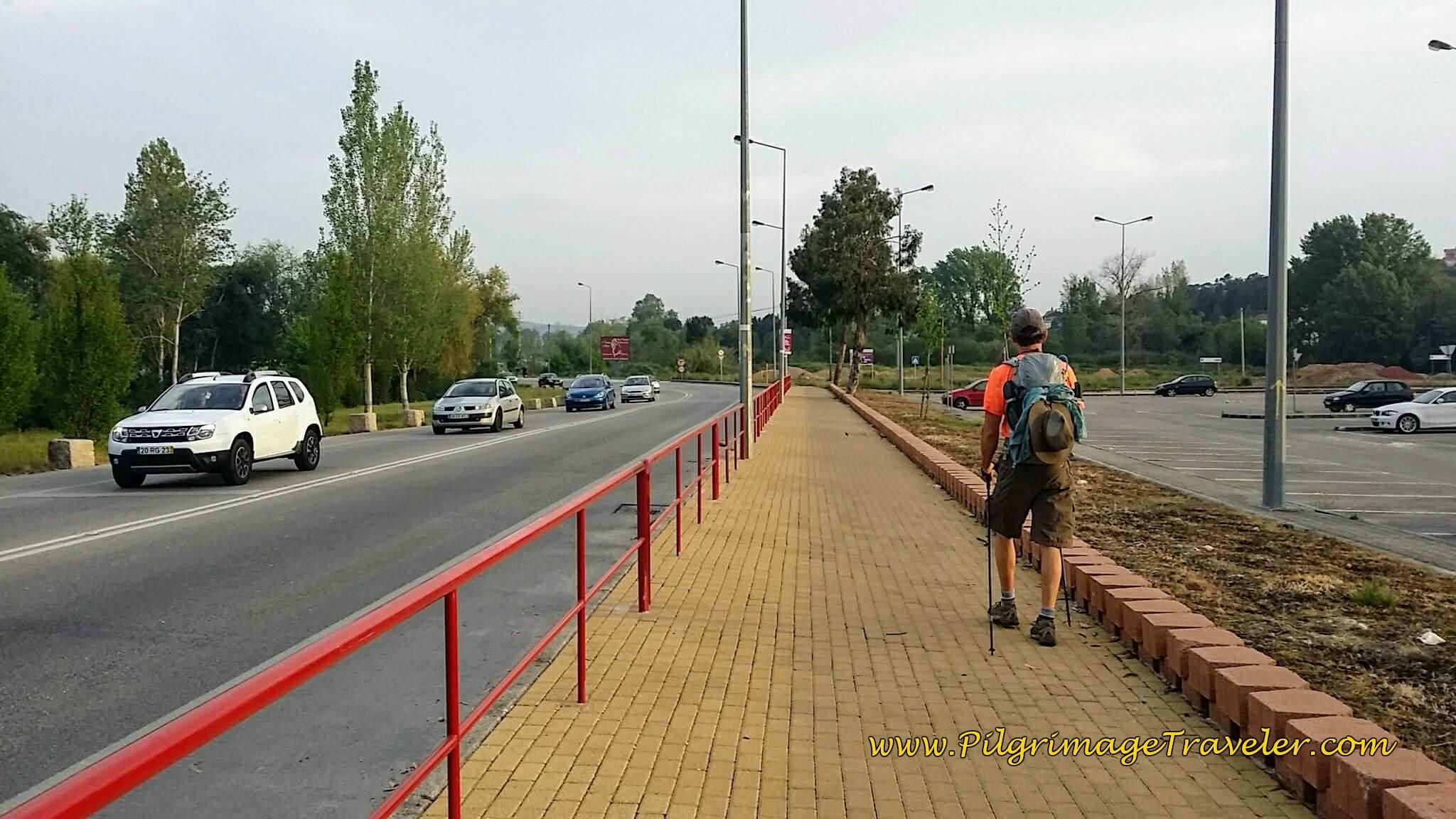Brick Path Along the N111, day ten of the Camino Portugués.