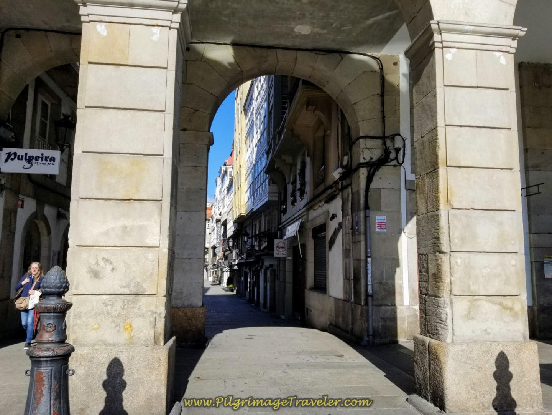 Archway Leaving the María Pita Plaza