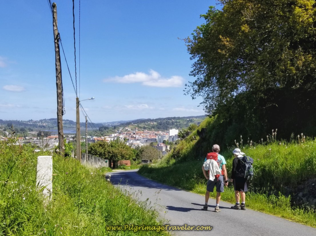 Taking a Breather With a Look-Back to Betanzos on day five of the Camino Inglés