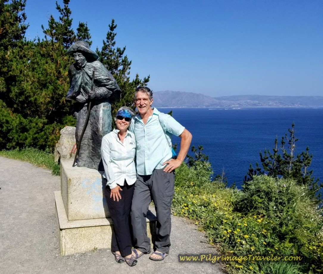 Elle and Rich at the Famous Pilgrim Statue